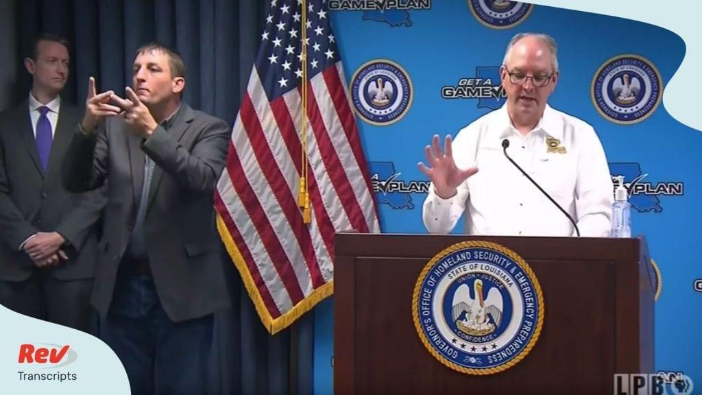 Louisiana Governor COVID-19 Briefing