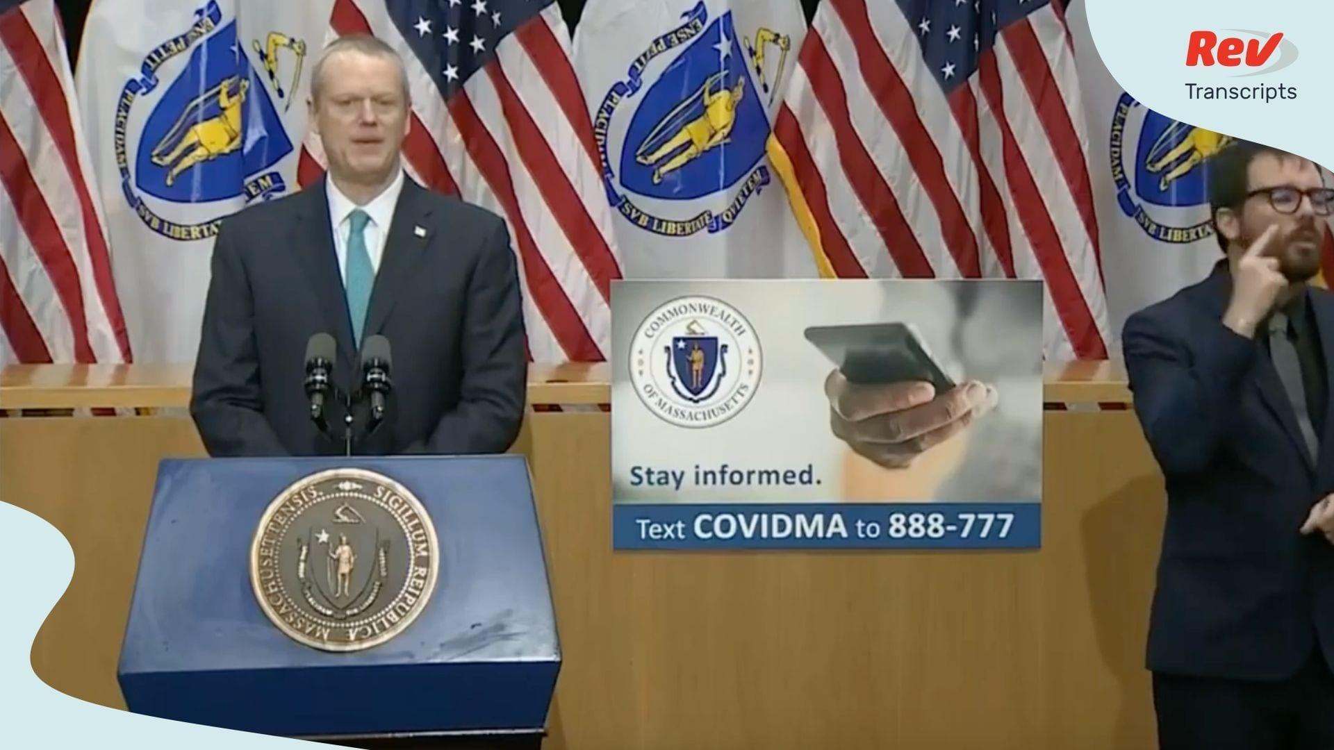 Massachusetts Governor COVID-19 Update