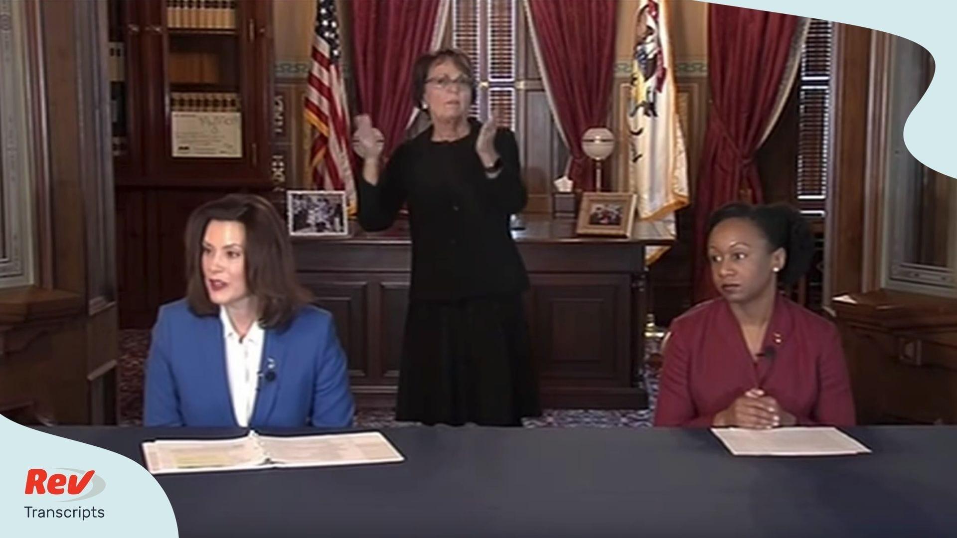 Michigan Governor Gretchen Whitmer Briefing Transcript