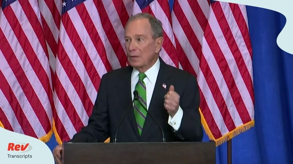 Mike Bloomberg Speech Bloomberg Drops Out