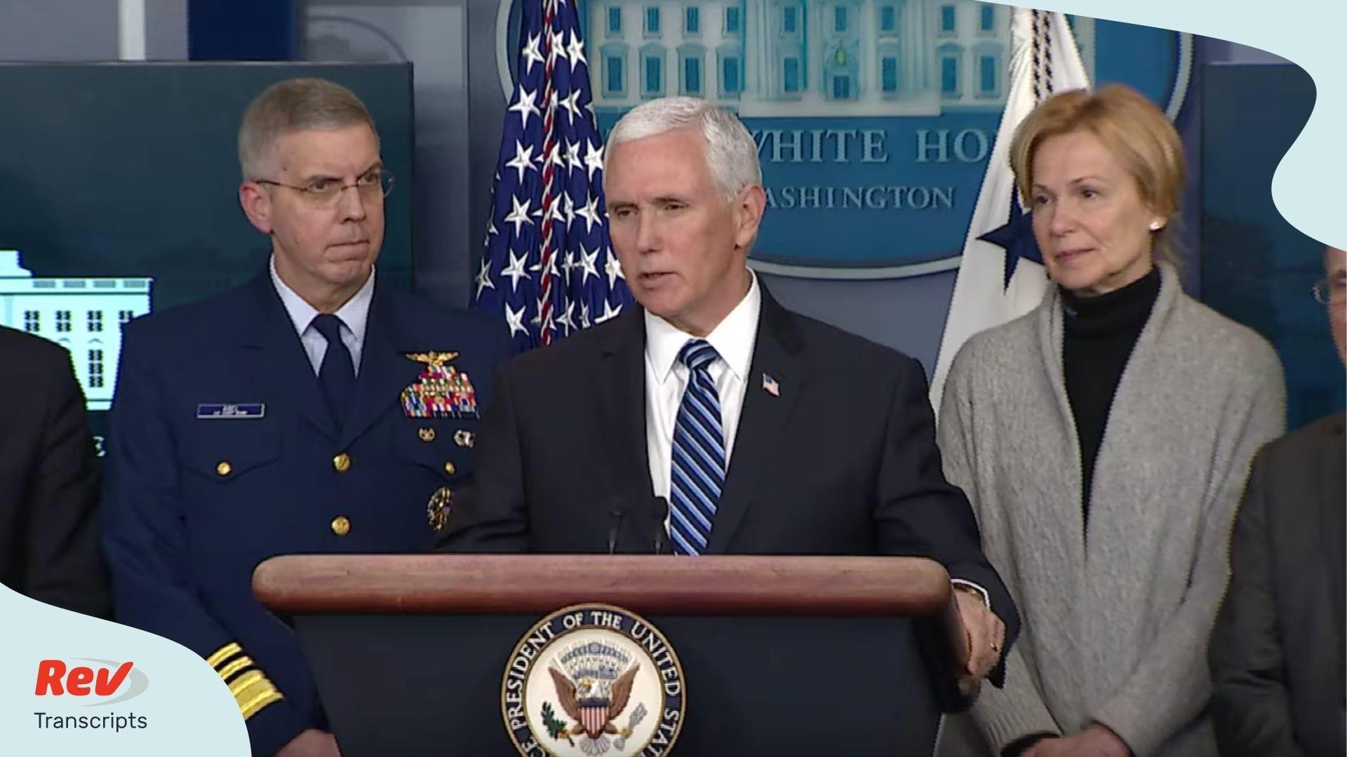 Mike Pence Coronavirus Task Force News Briefing