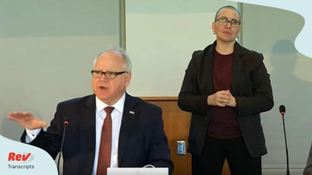 Minnesota Governor Coronavirus Briefing March 20
