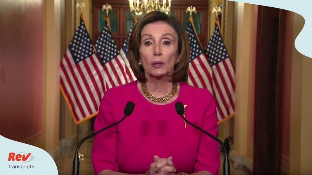 Nancy Pelosi Speech Transcript Coronavirus Bill March 23