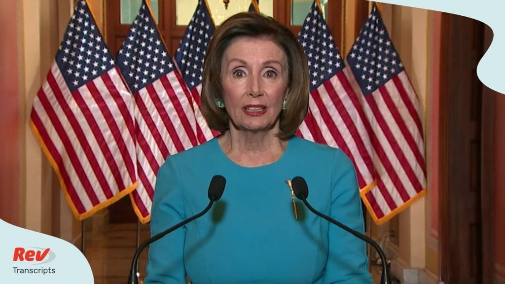 Nancy Pelosi Statement Transcript Coronavirus Rescue Package