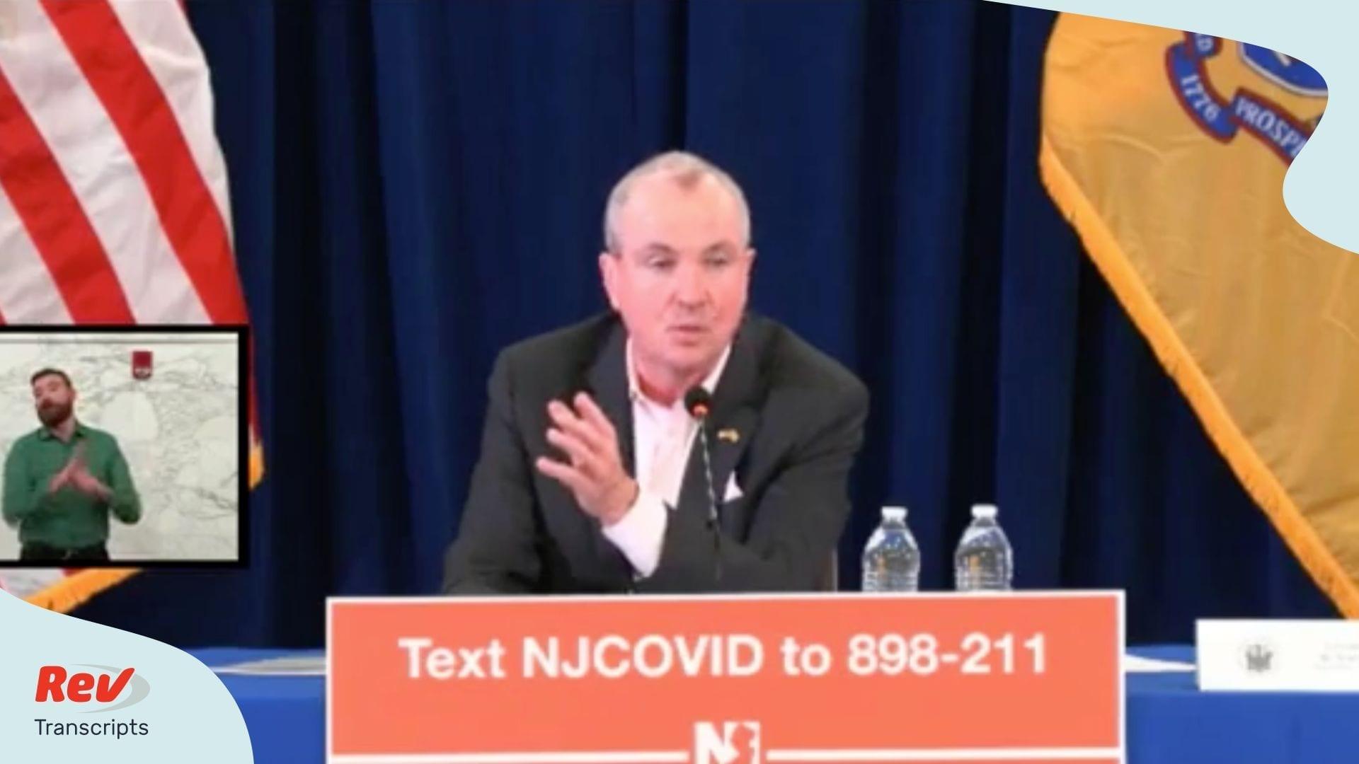 New Jersey Governor Phil Murphy Coronavirus March 21