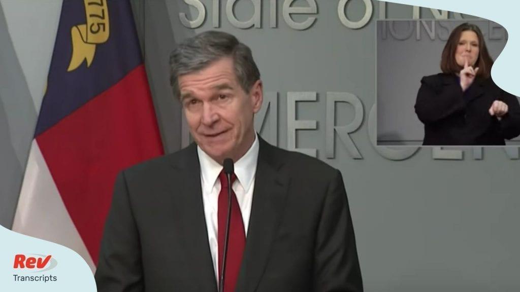 North Carolina Governor Briefing March 31