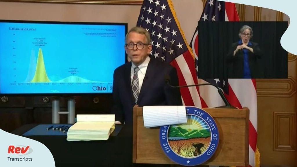 Ohio Governor Mike DeWine Press COnference Transcript