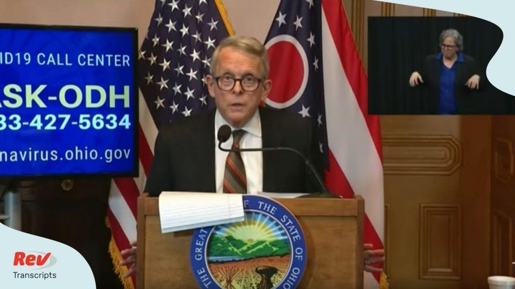 Ohio Governor Mike Dewine May 20 Briefing Transcript