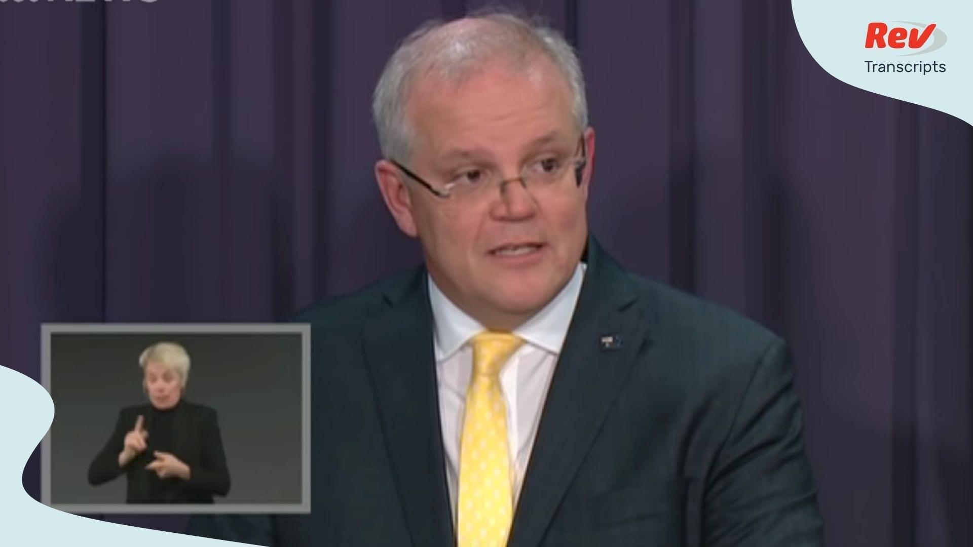 Scott Morrisson Prime Minister Australia Briefing COVID-19 March 24