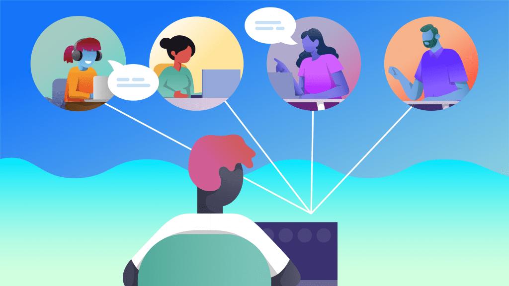 Virtual Meetings Remote Meetings and Working From Home Coronavirus COVID-19