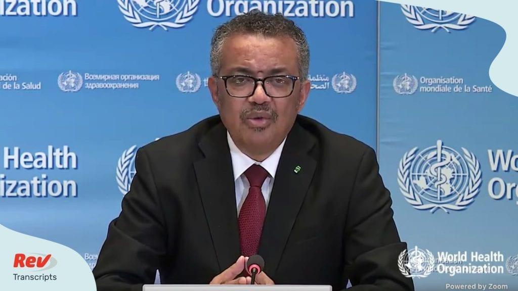 World Health Organization Briefing Coronavirus Transcript April 1