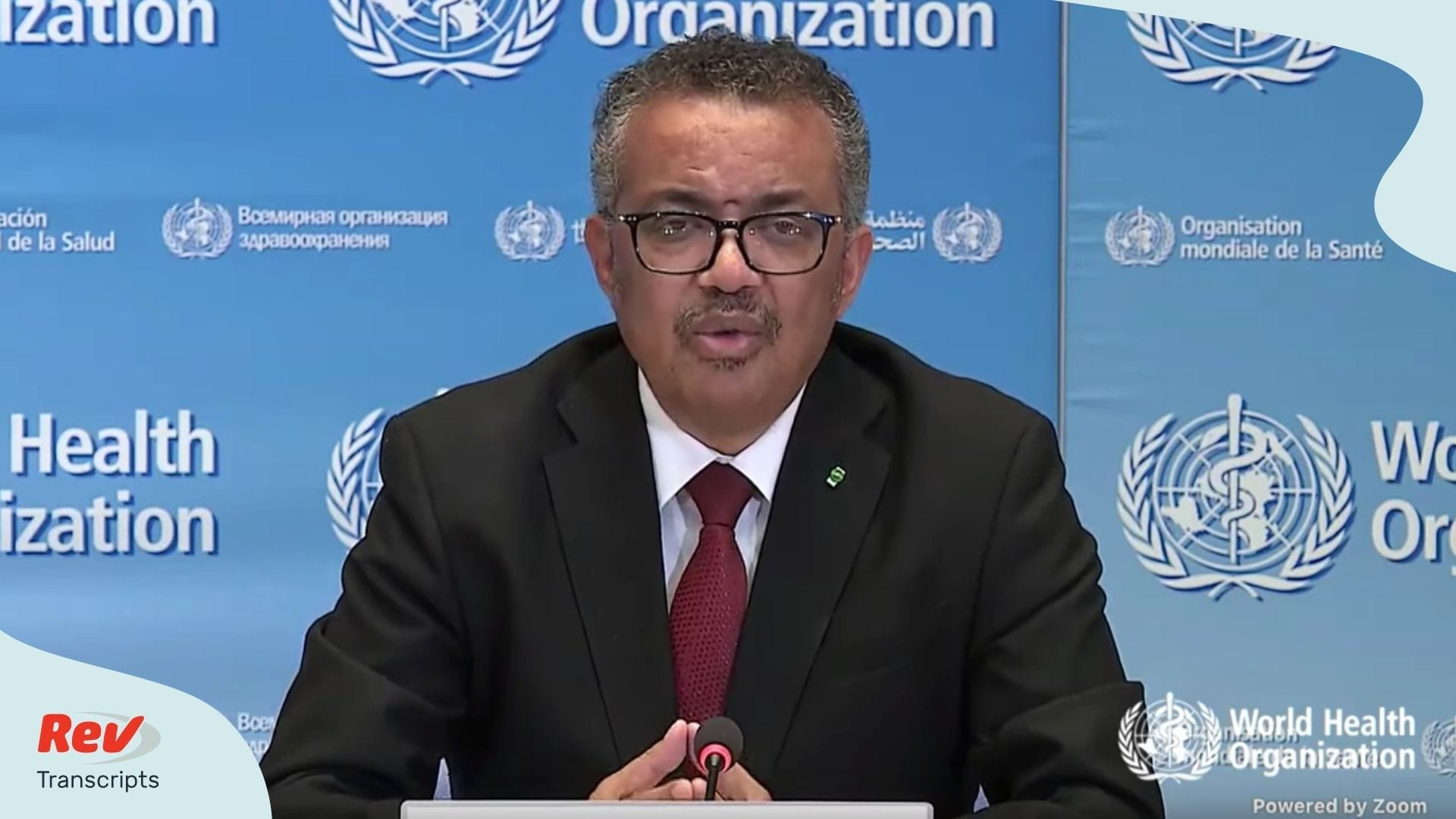 World Health Organization Briefing Coronavirus Transcript March 25