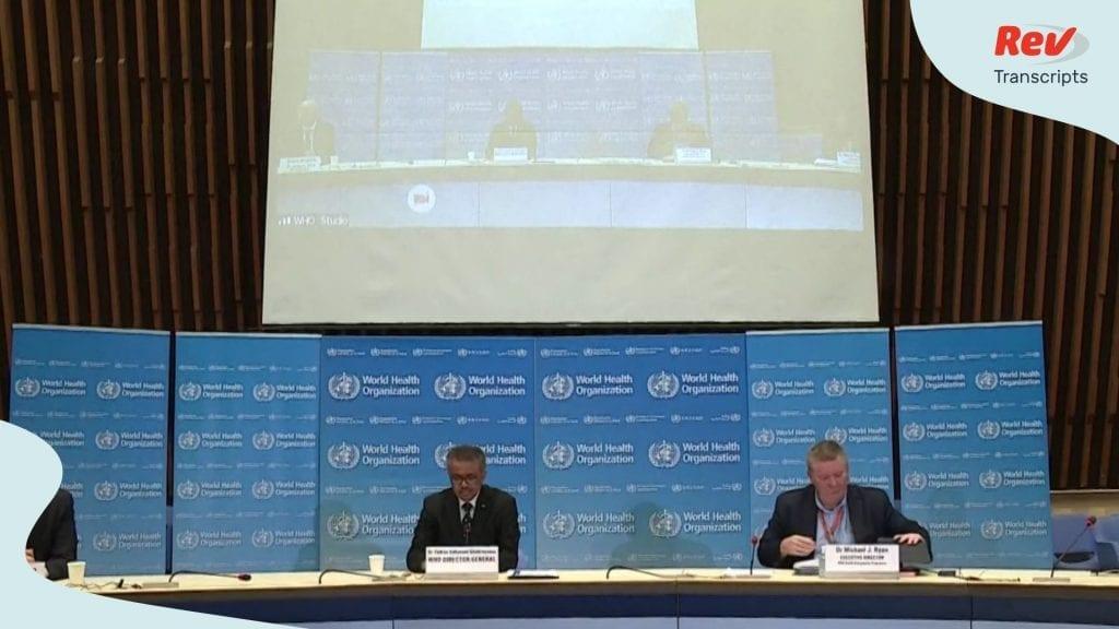 World Health Organization Briefing Transcript March 23