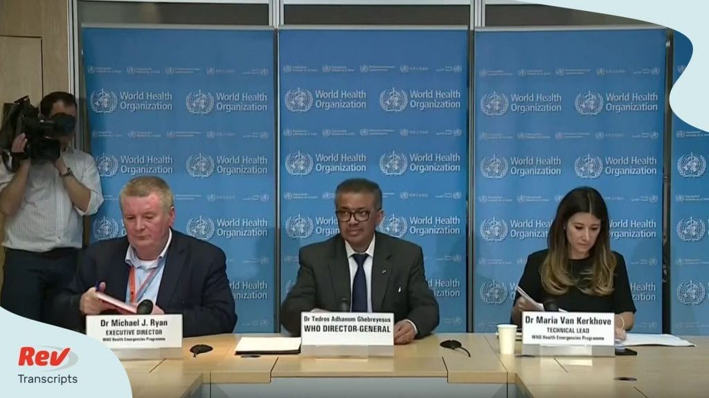 World Health Organization COVID-19 Update March 13