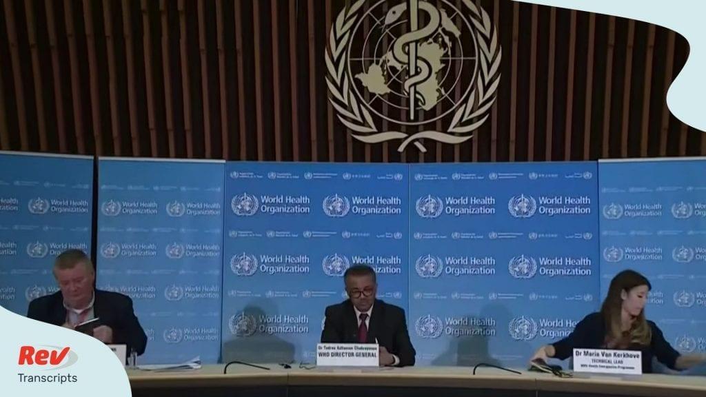 World Health Organization Coronavirus Update June 1