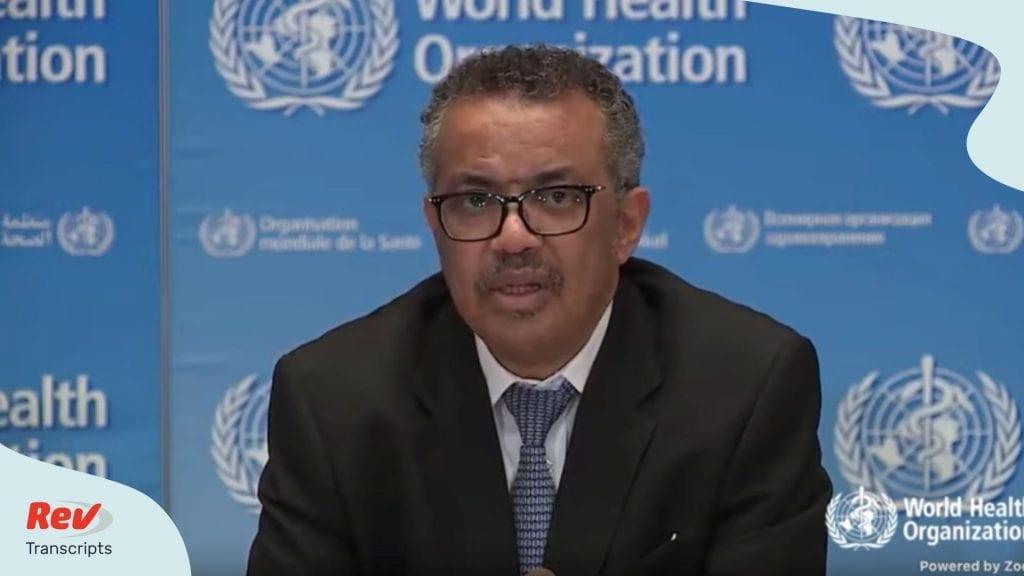 World Health Organization March 18 Briefing Transcript