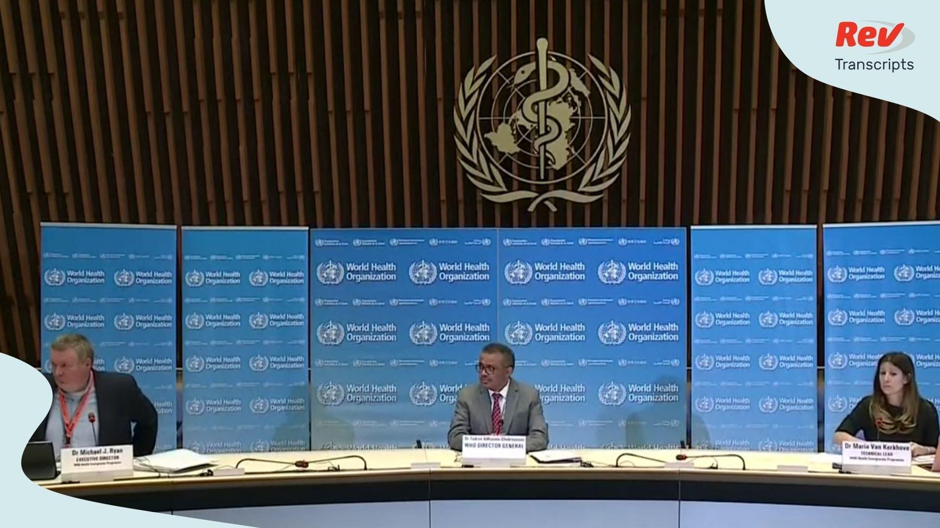 World Health Organization Press Conference April 1 Coronavirus