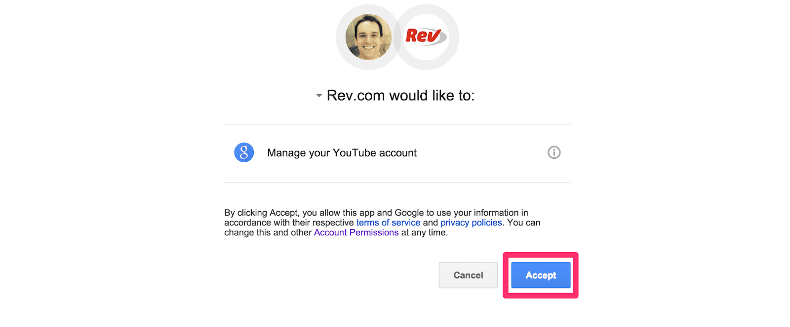 Rev YouTube Integration