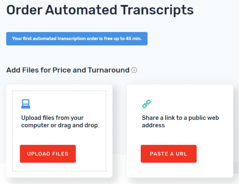 Order automated transcripts