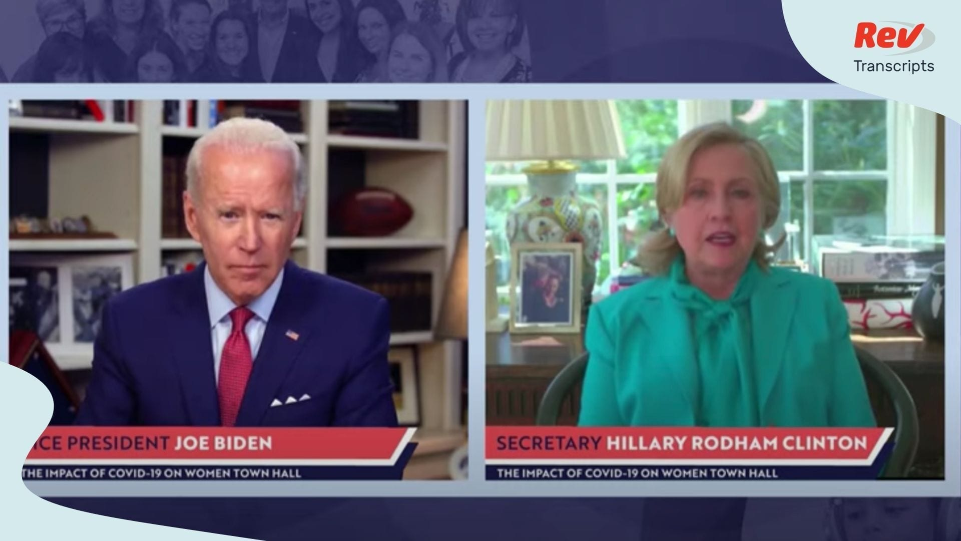 Joe Biden & Hillary Clinton Virtual Town Hall Transcript on ...