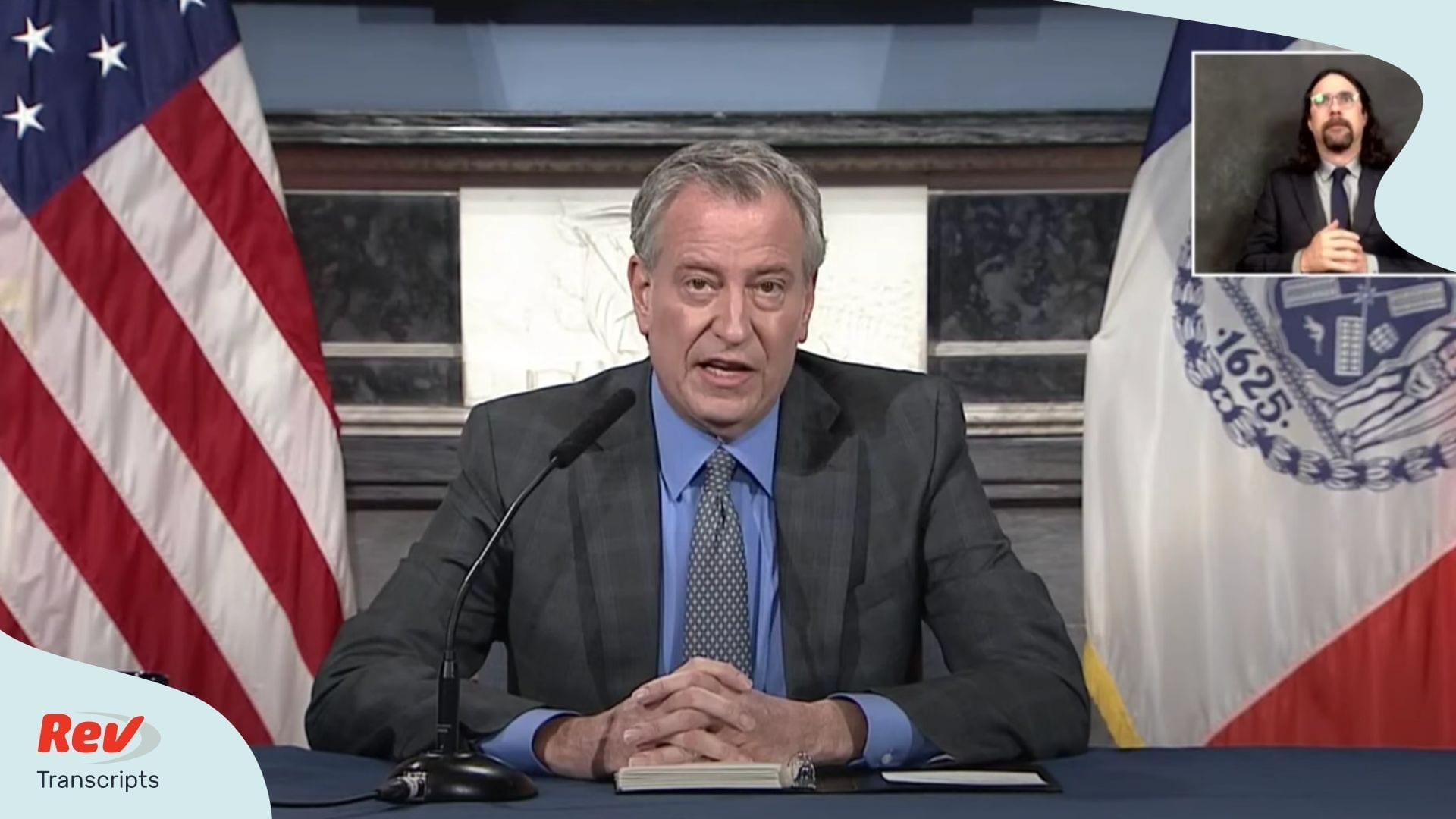 Bill de Blasio May 7 Briefing