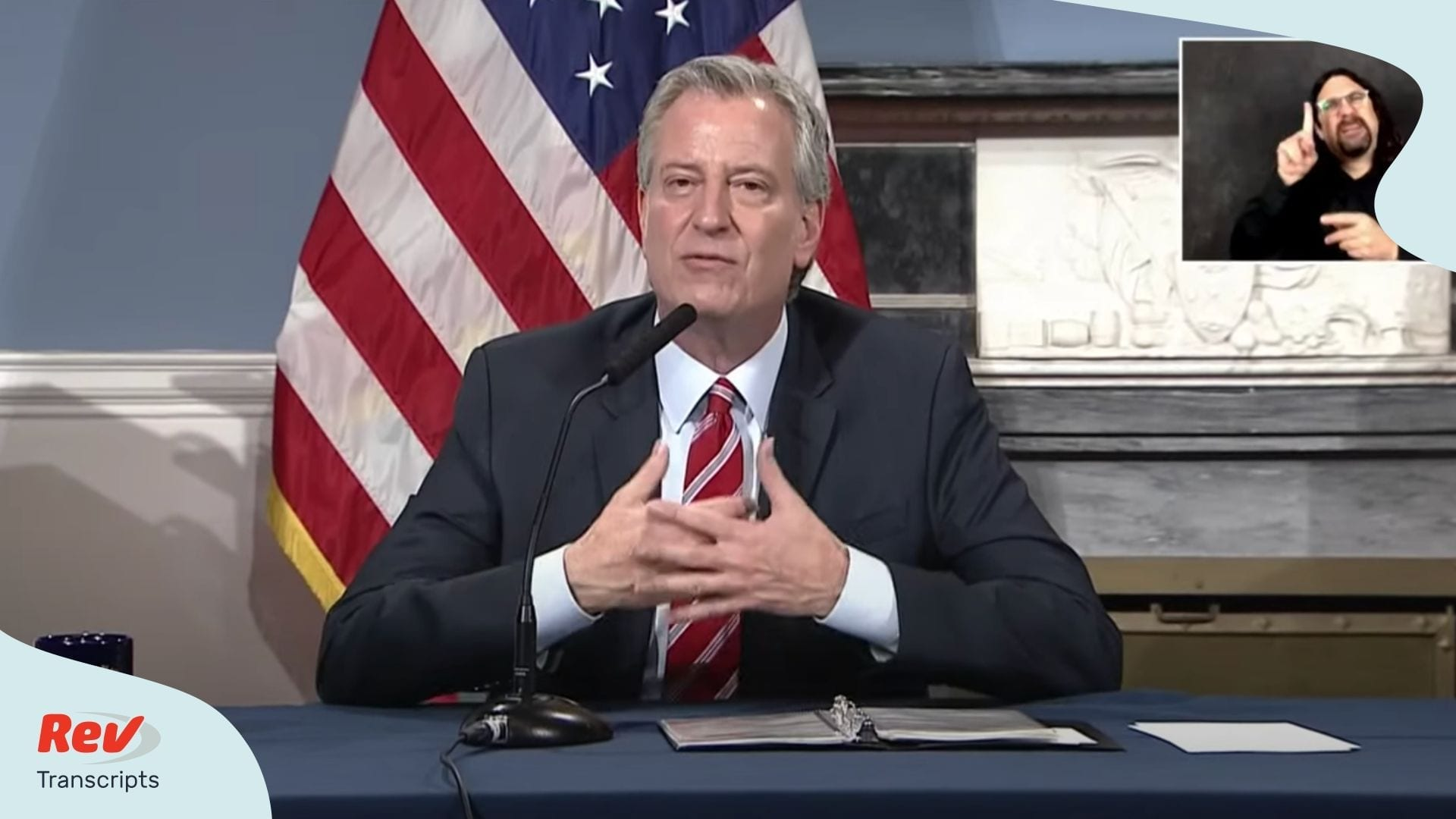 Bill de Blasio April 21 Briefing