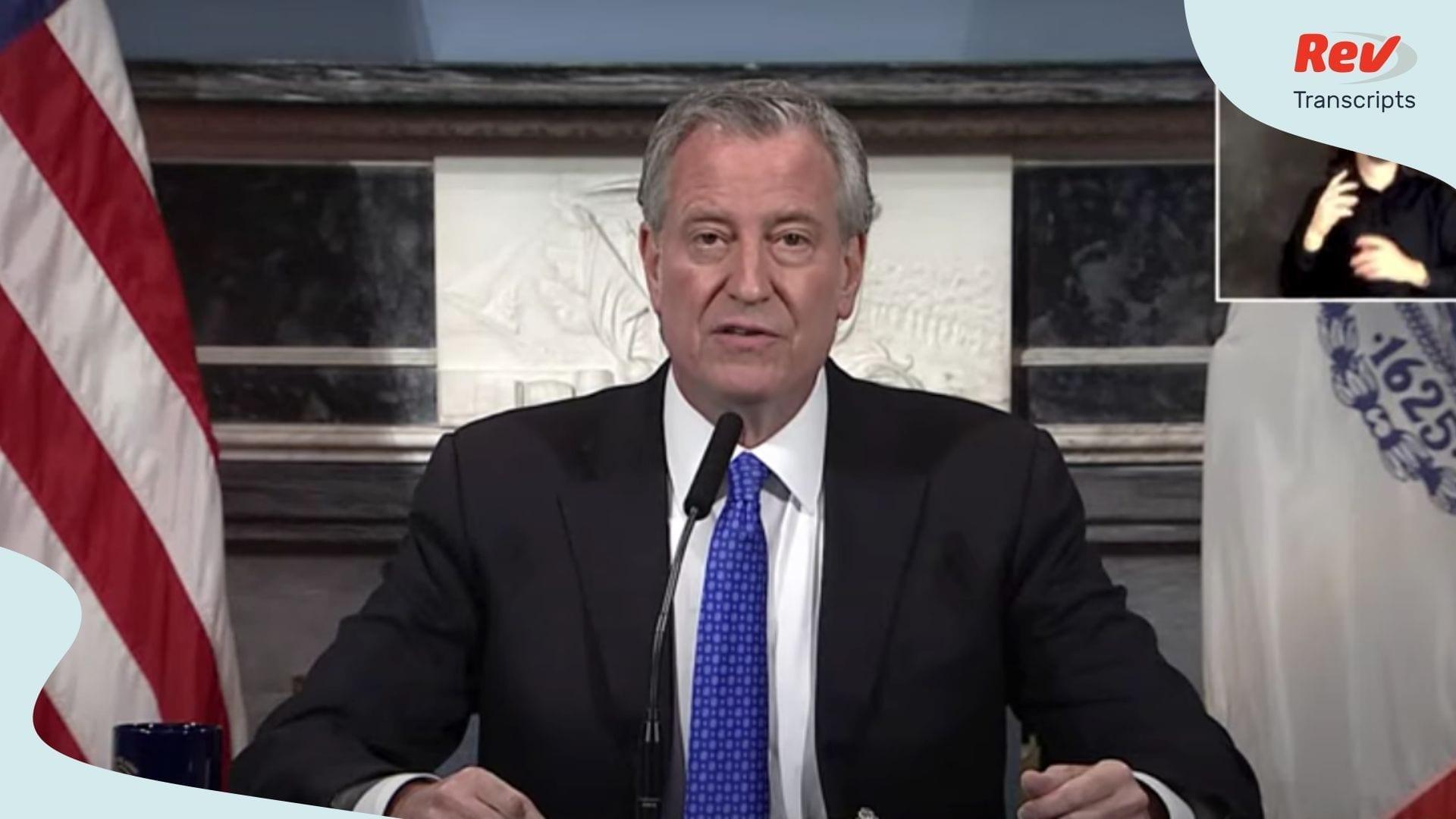Bill de Blasio Briefing April 13