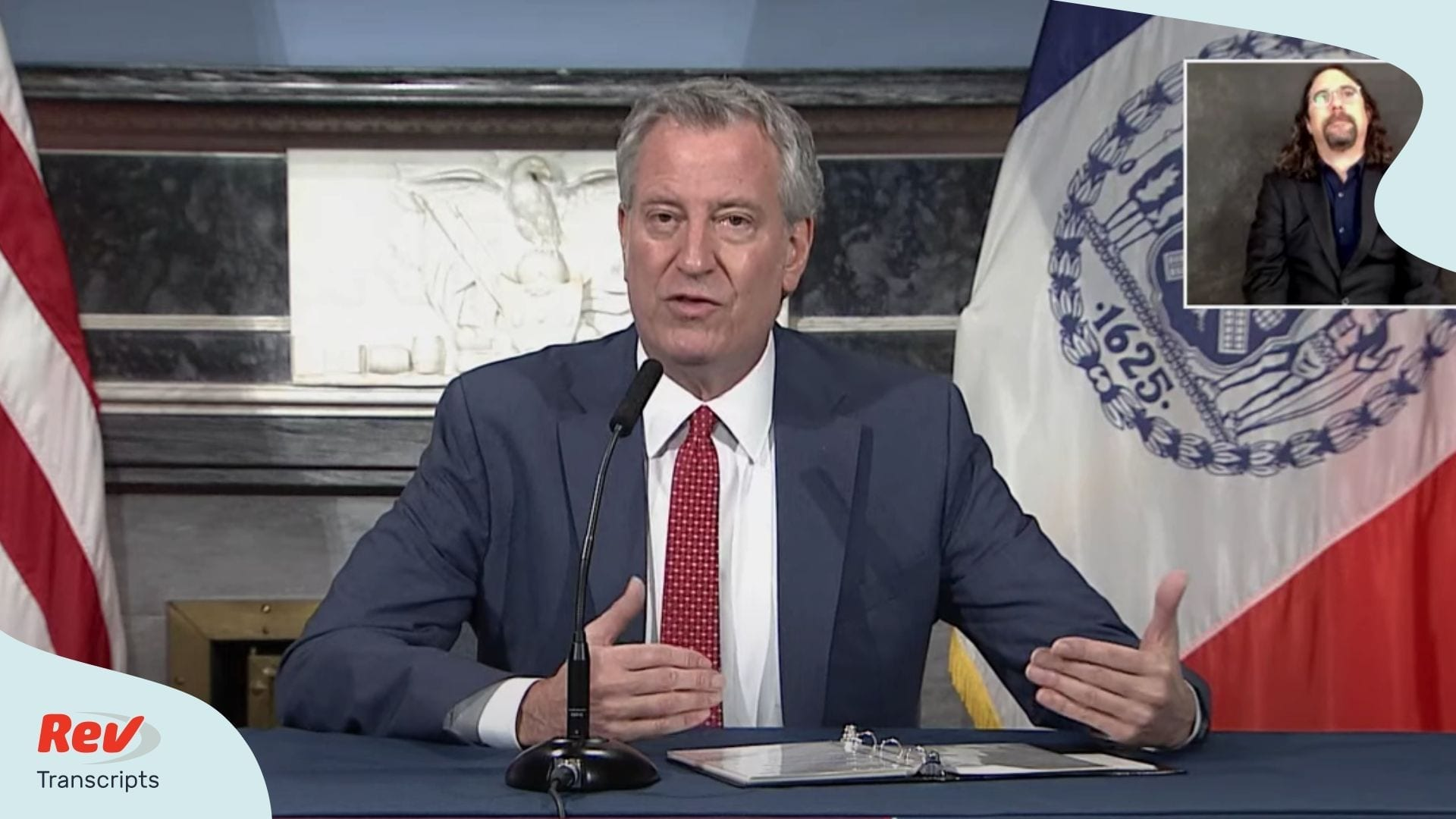 Bill de Blasio NYC Briefing April 14