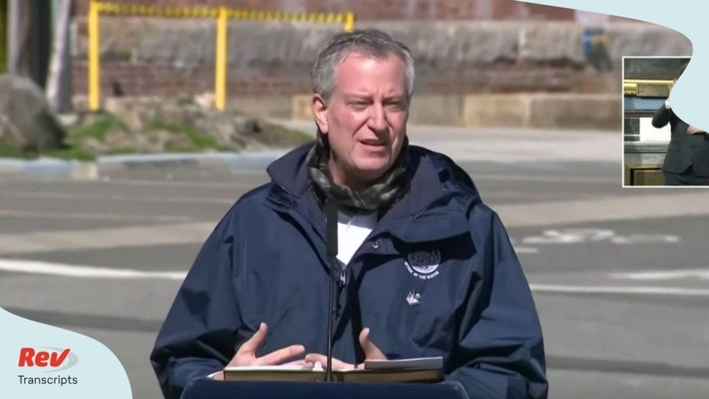 Bill de Blasio NYC Update April 6
