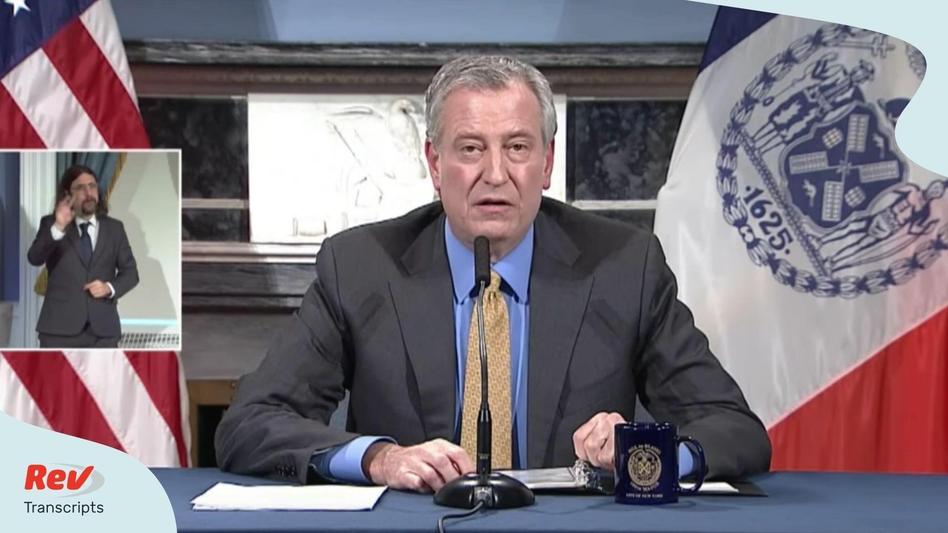 Bill de Blasio Press Conference April 28