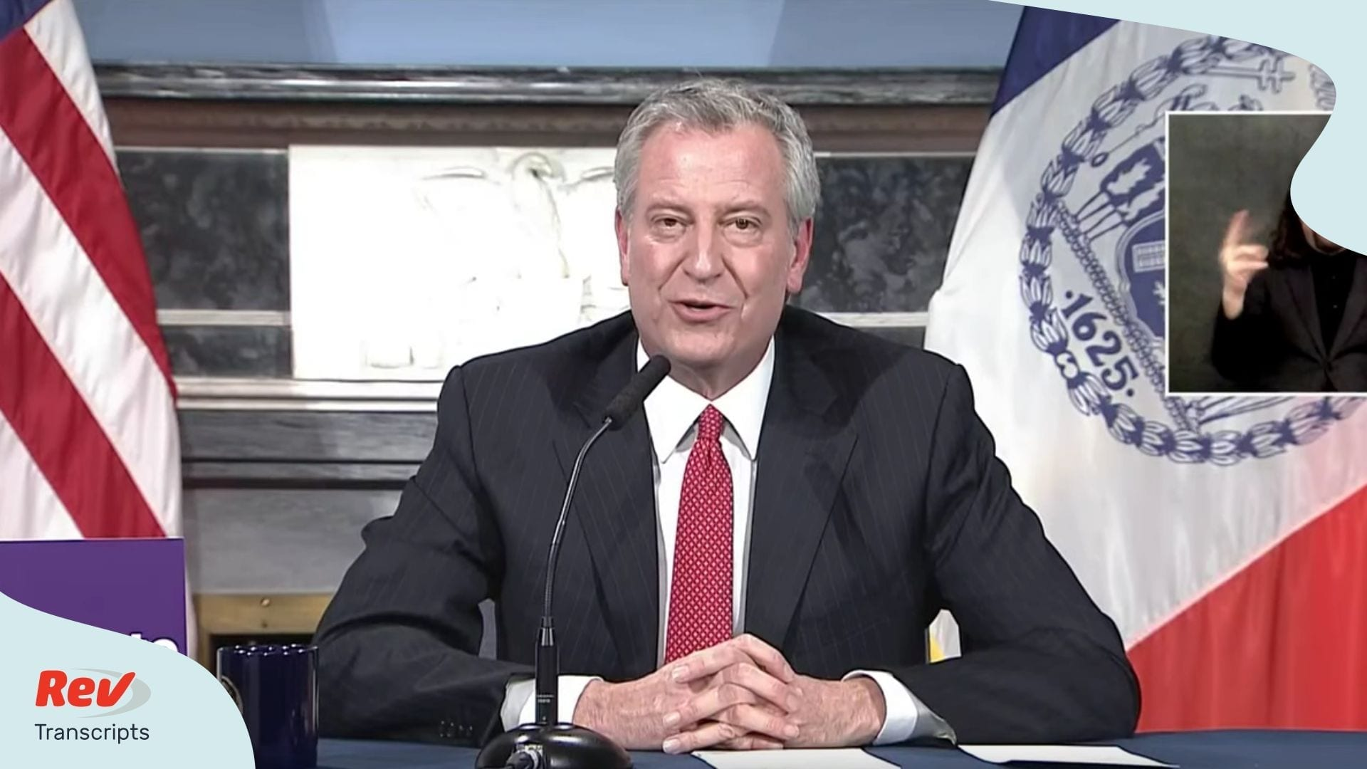 Bill de Blasio Press Conference April 2