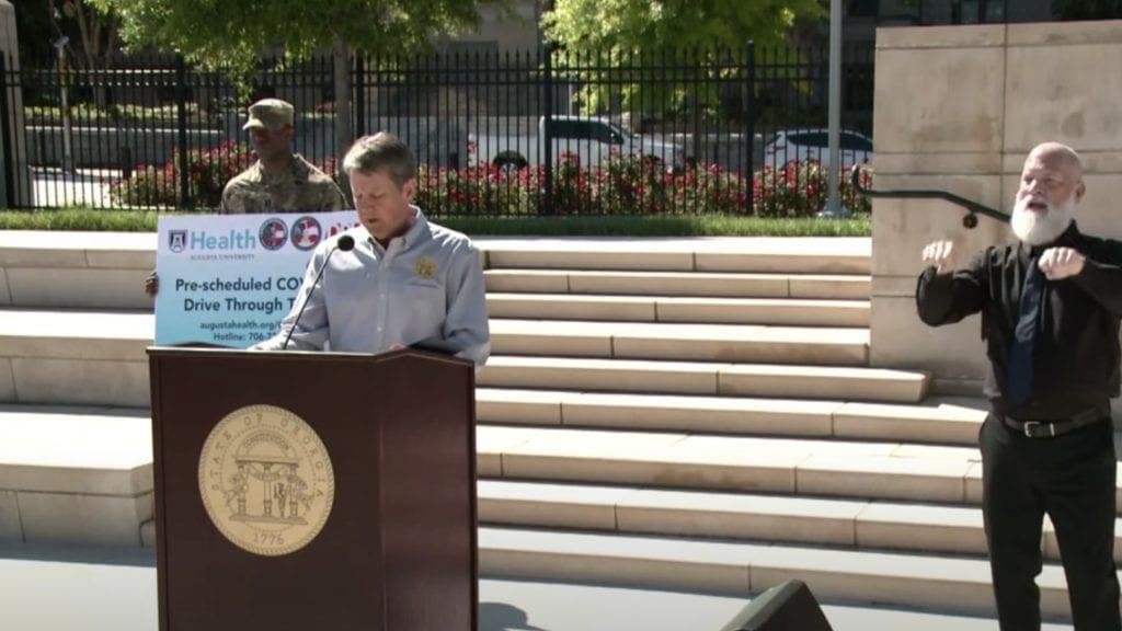 Brian Kemp Georgia Briefing April 20