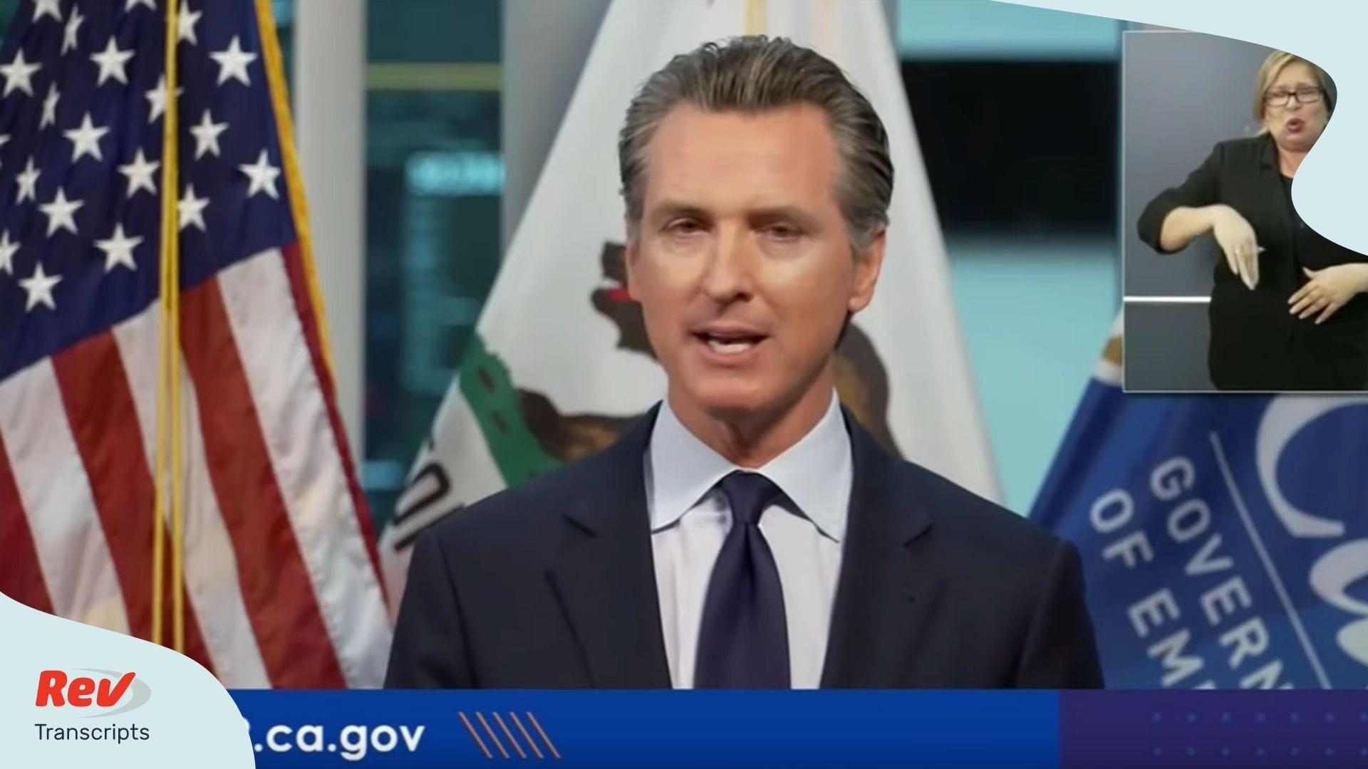California Governor April 2 Press Conference Coronavirus