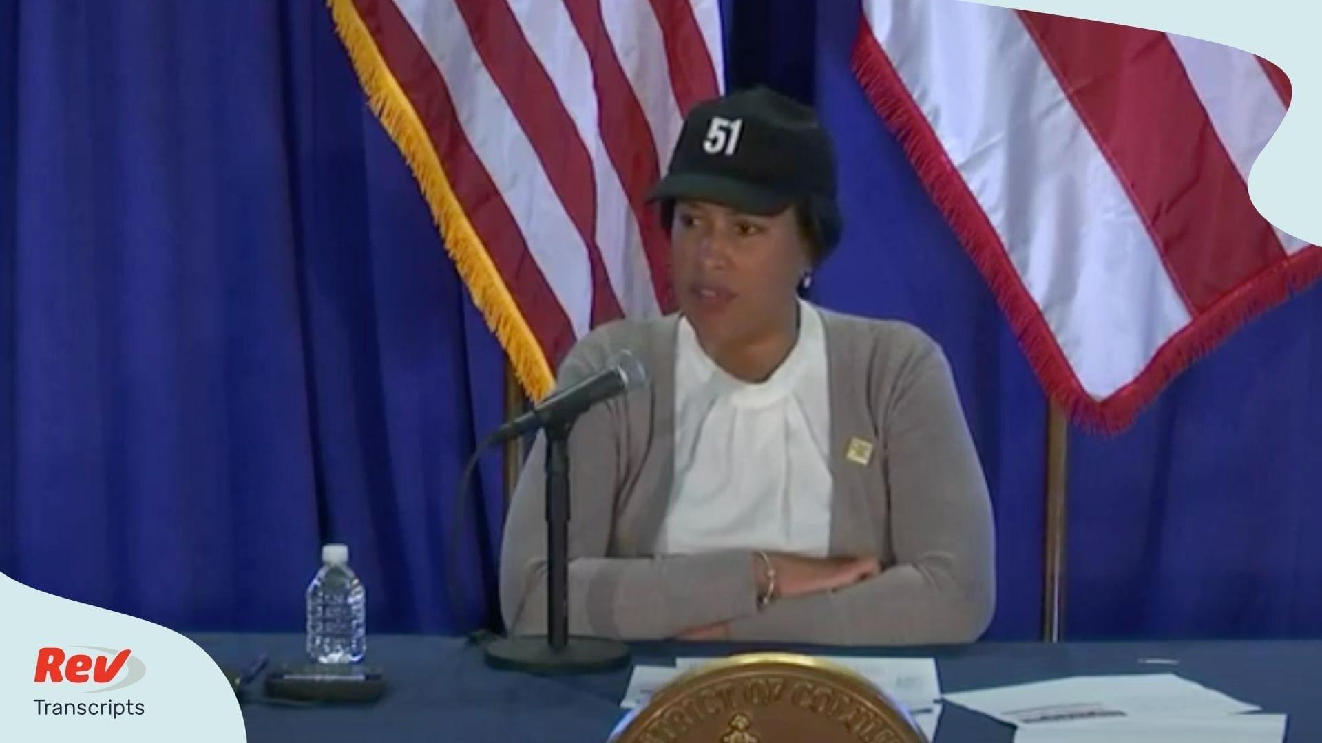 DC Mayor Briefing April 14