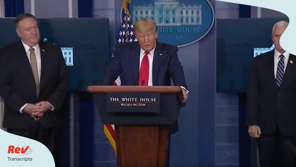 Donald Trump Coronavirus Task Force Briefing April 8
