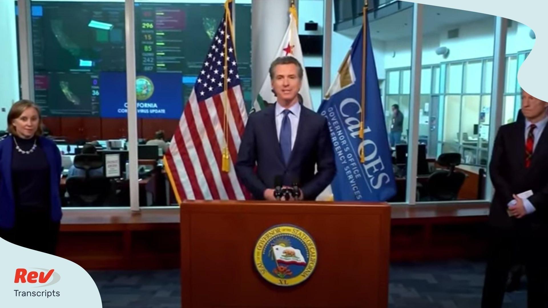 Gavin Newsom California Briefing April 17