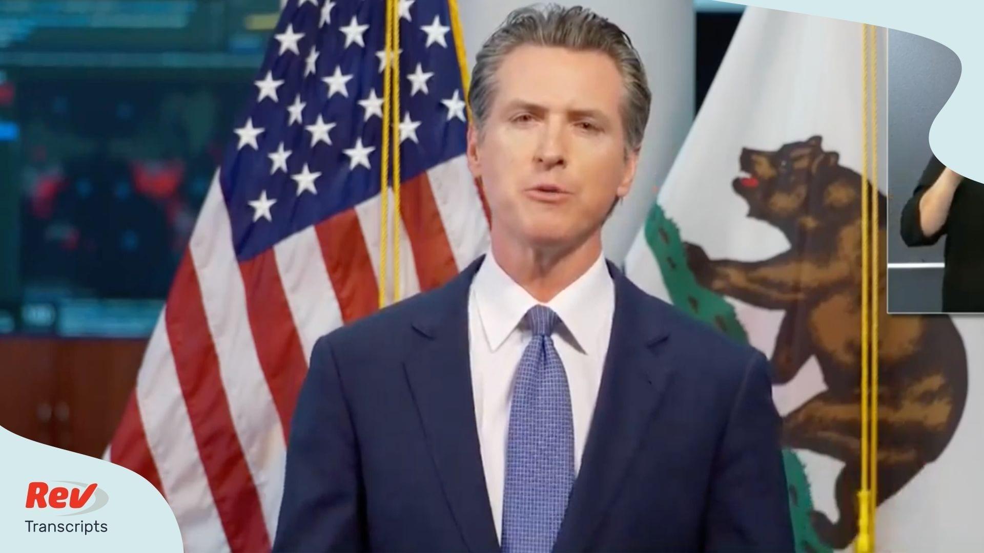 Gavin Newsom California Coronavirus Transcript