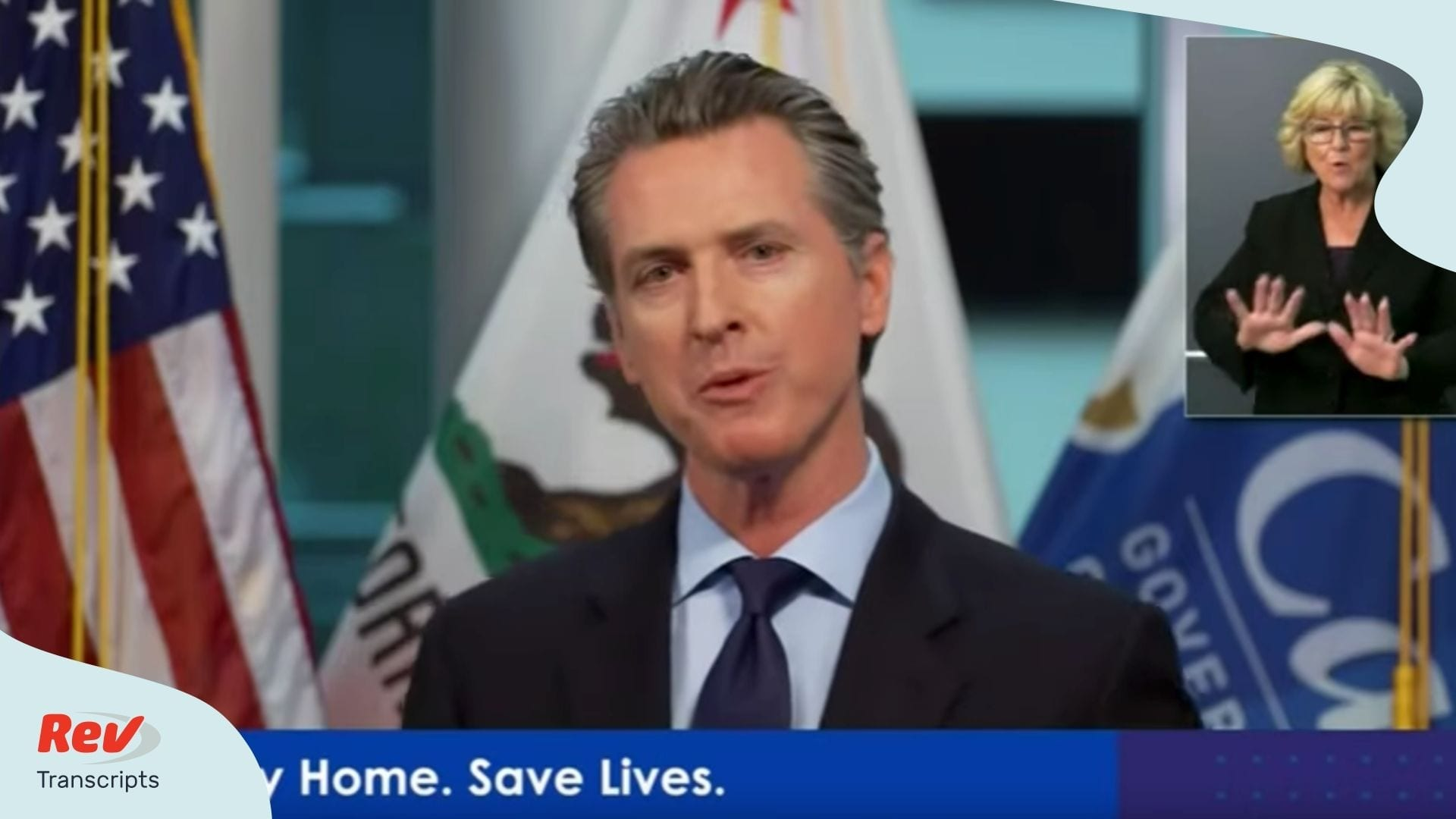 Gavin Newsom Transcript April 8