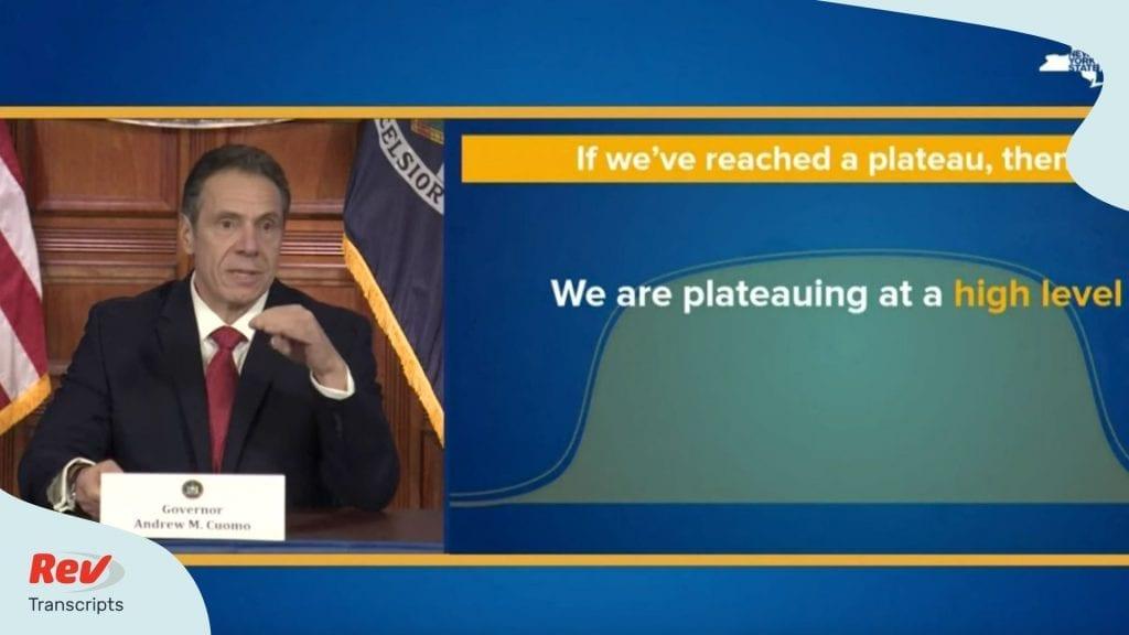 Gov Andrew Cuomo New York COVID-19 Briefing
