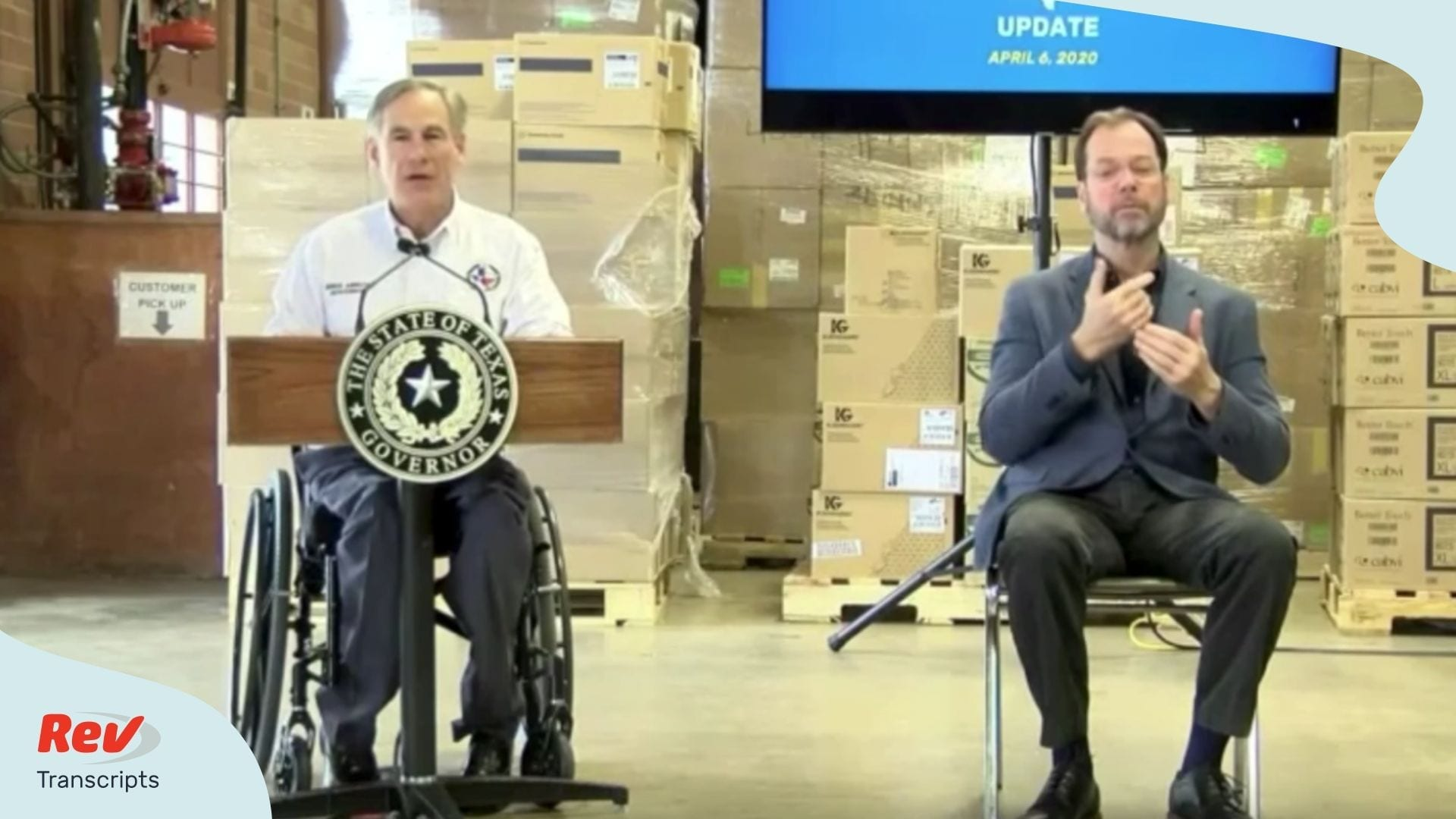 Governor Greg Abbott Texas Briefing April 6