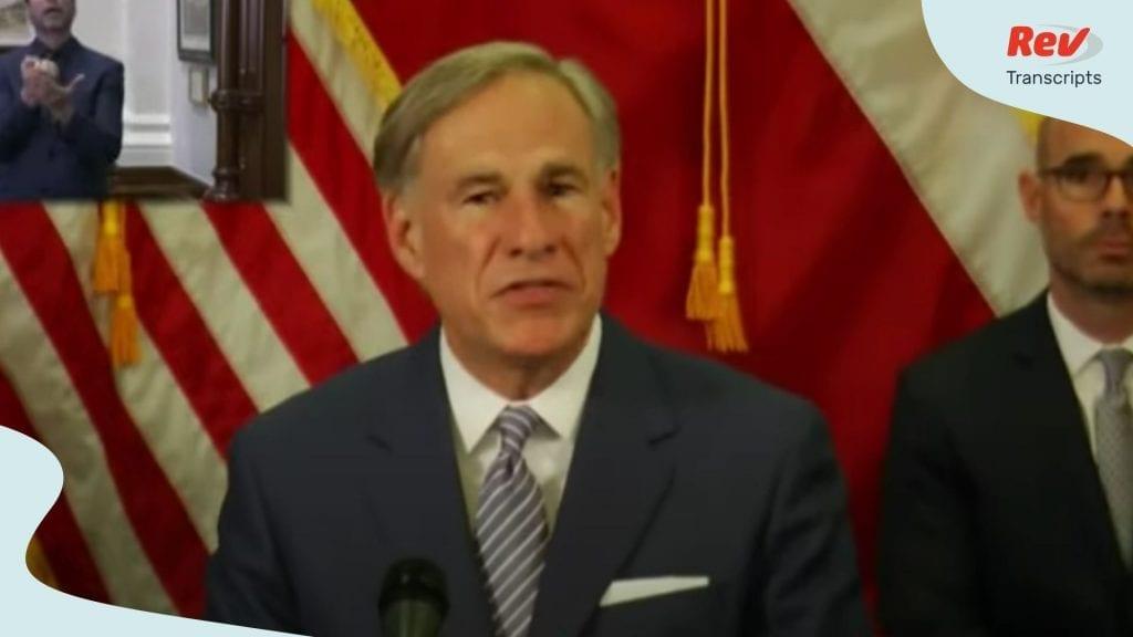 Greg Abbott Texas Briefing April 17
