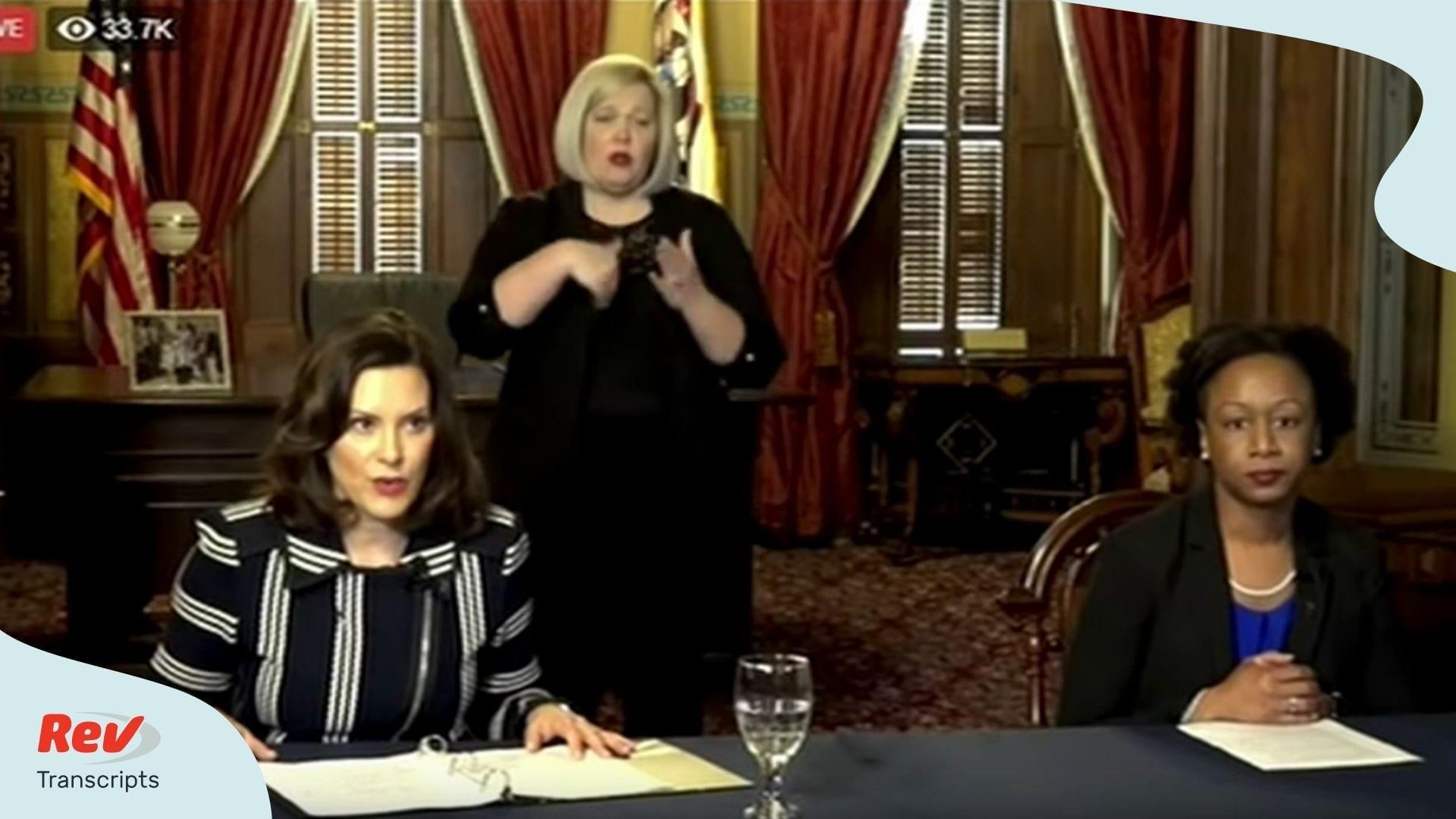 Michigan Gov Gretchen Whitmer Covid 19 Briefing Transcript April 2 Orders K 12 Schools Close For Rest Of Year Rev