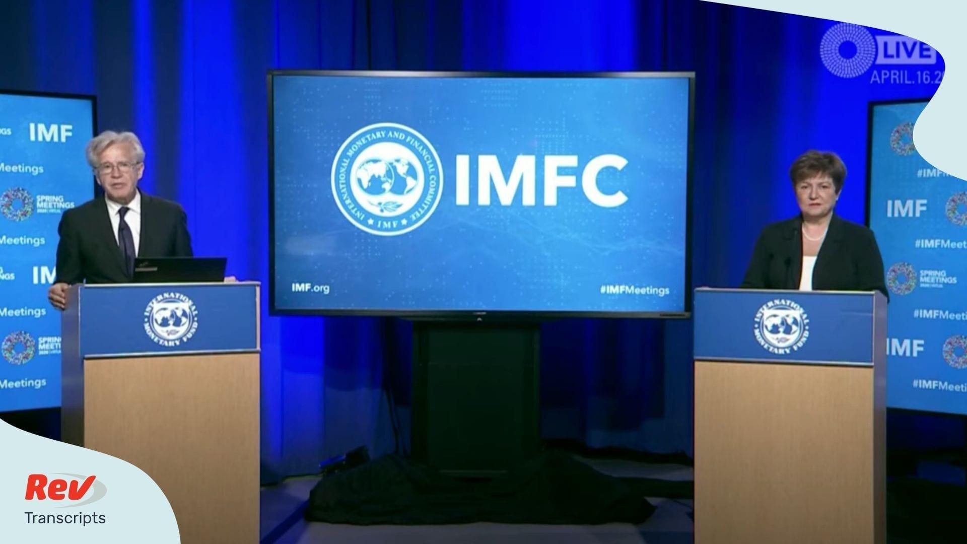 IMF Press Briefing April 16