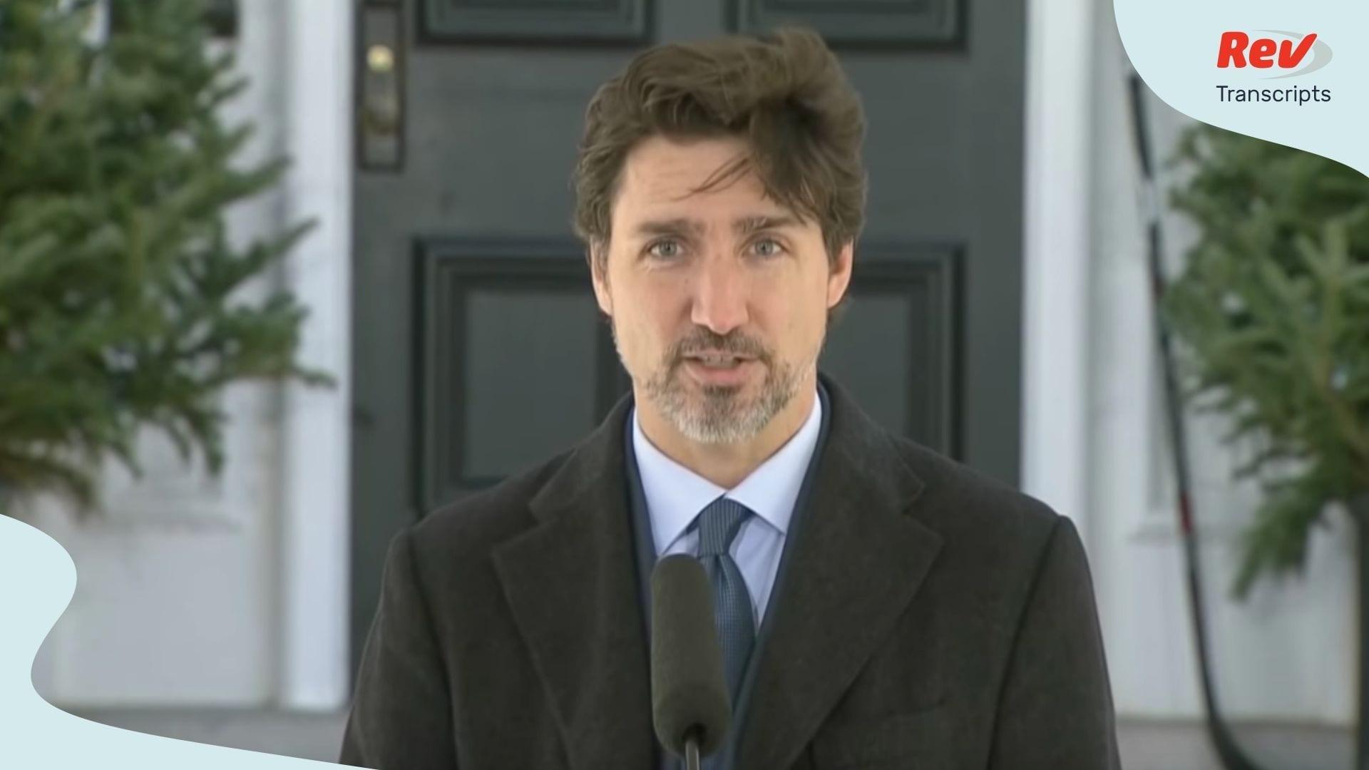 Justin Trudeau April 6 Briefing