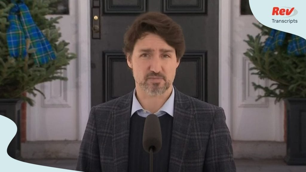 Justin Trudeau Briefing April 25