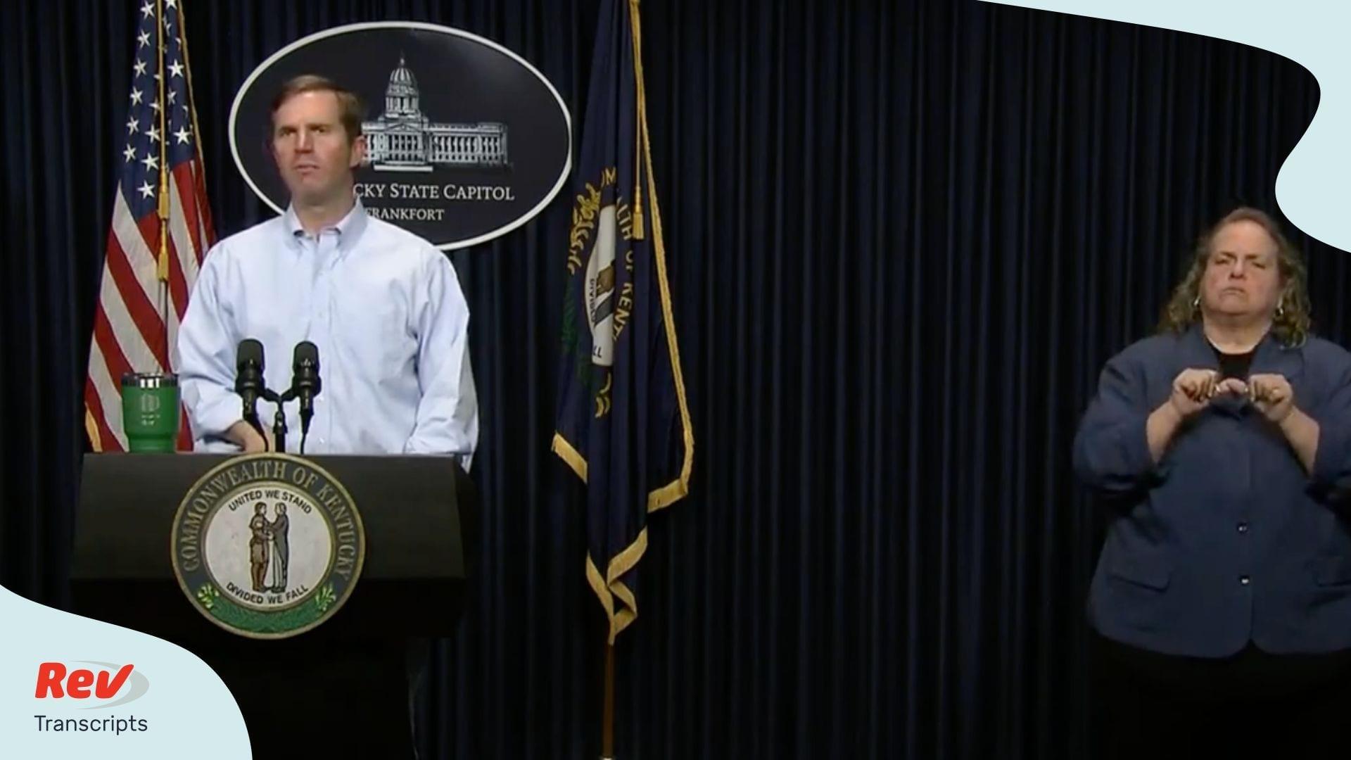 Kentucky Governor April 8 Briefing