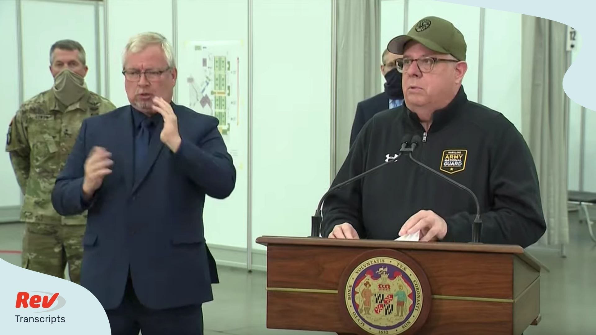 Maryland Governor Larry Hogan Briefing