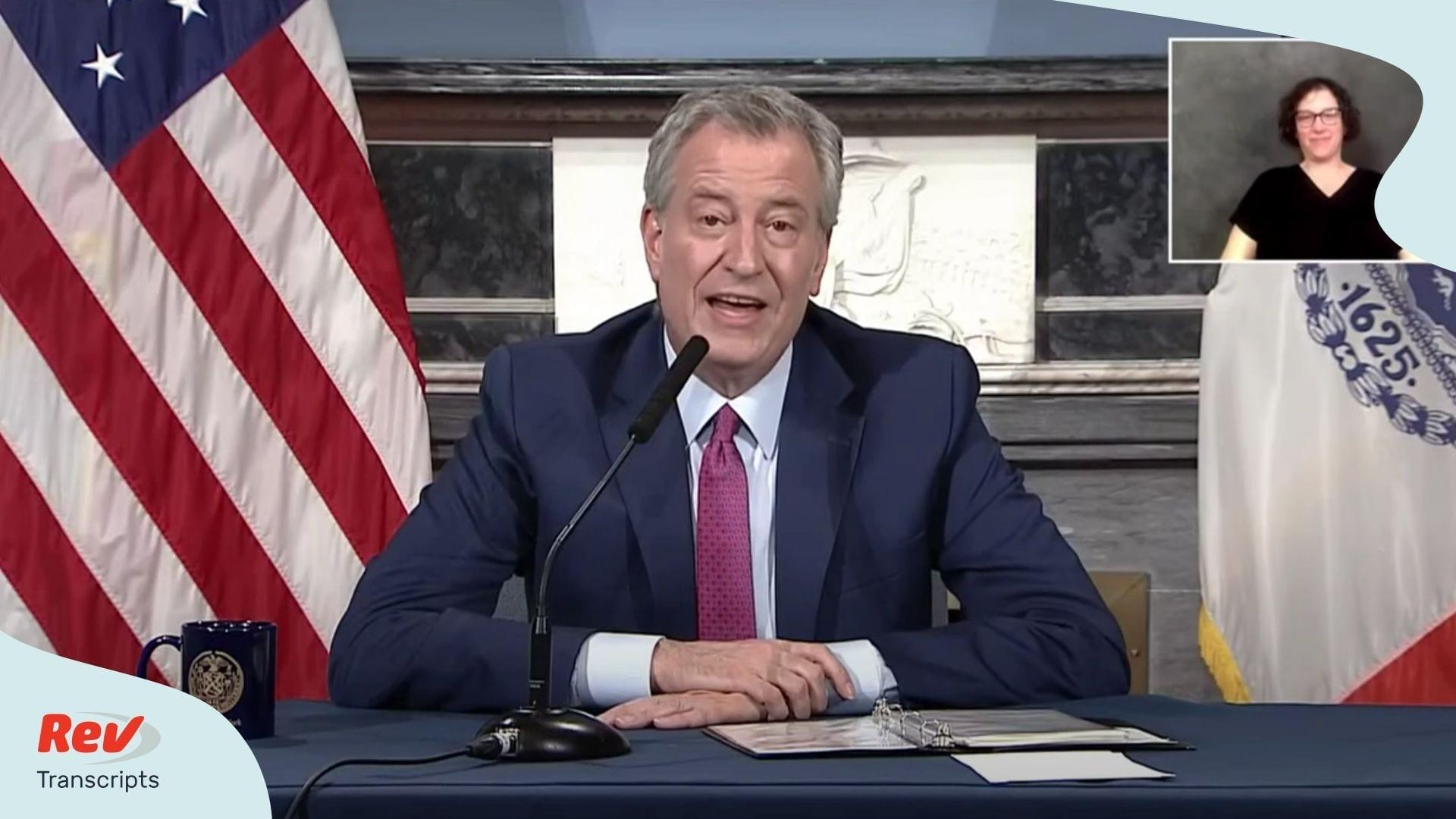 Mayor Bill de Blasio NYC Briefing April 20