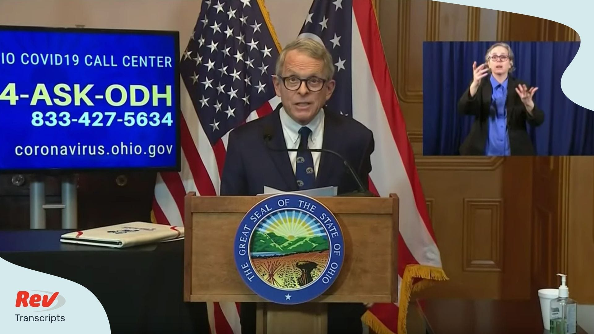Mike DeWine Ohio Briefing Transcript April 7
