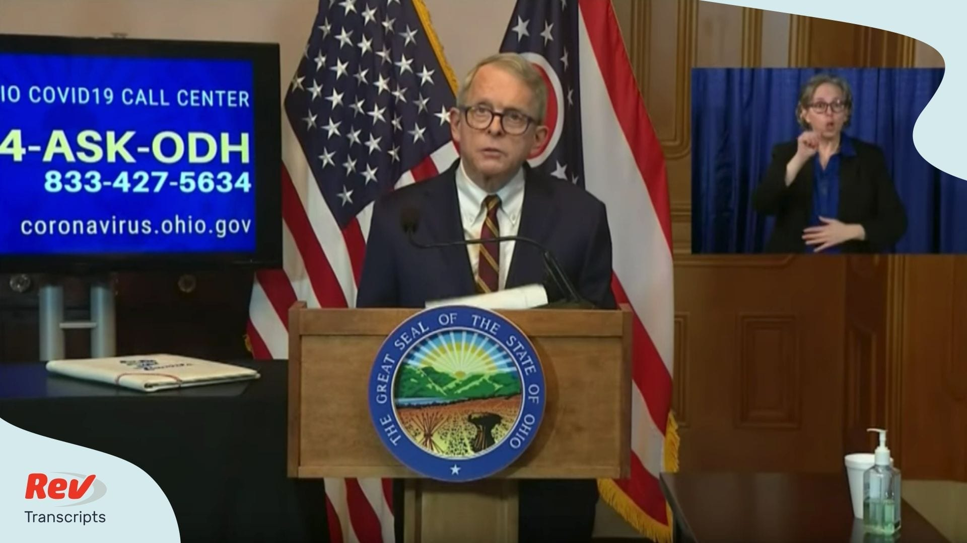 Mike DeWine Press Conference April 6 Ohio